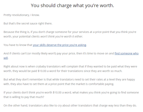 charge what you're worth (anonymous blog)